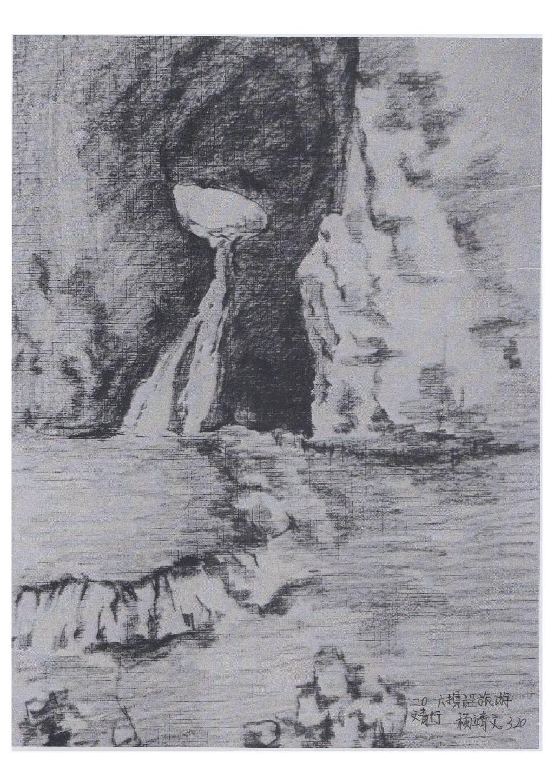 荷花仙鹤铅笔画图解