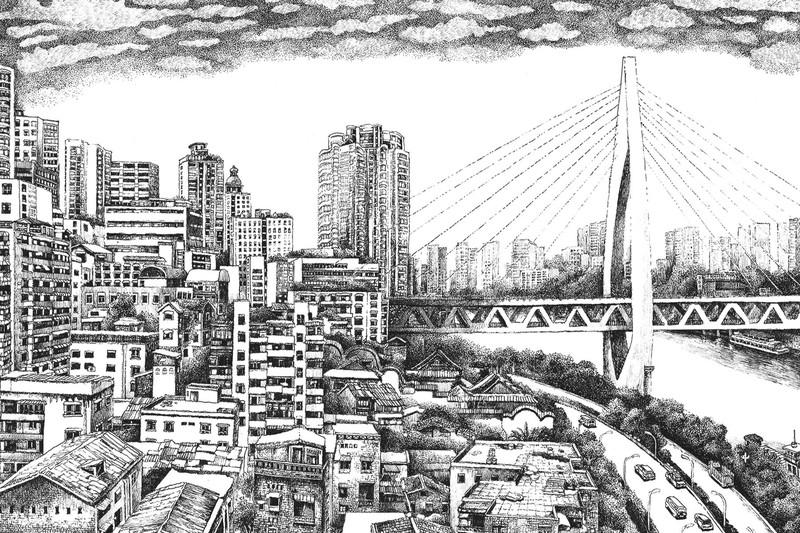 东水门正街,手绘|唯祂蜜
