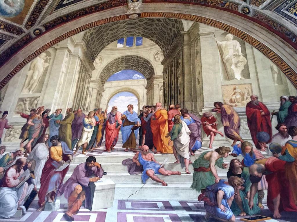 所有人都要看的《雅典学派》反映了哲学的主题.