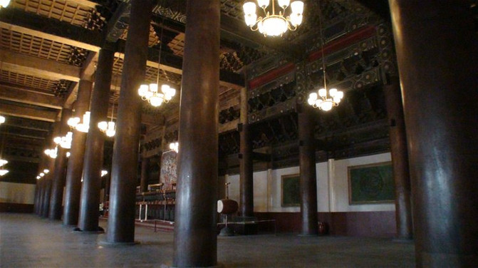 [原创]北京太庙享殿内金丝楠木大柱几乎绝无仅有了.北京30.