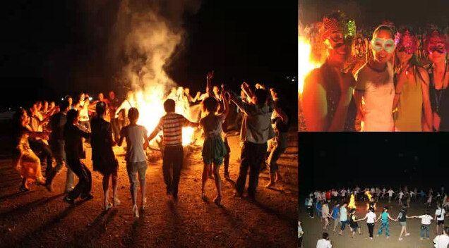 还有当地特色篝火晚会