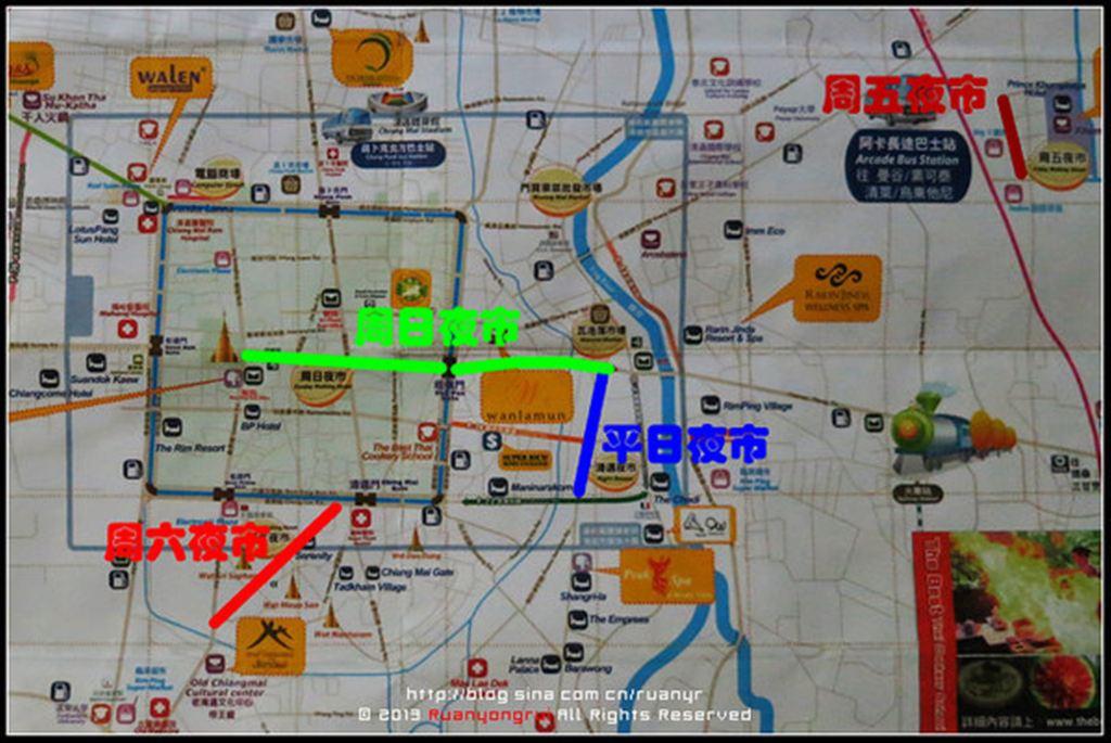 清迈手绘地图中文