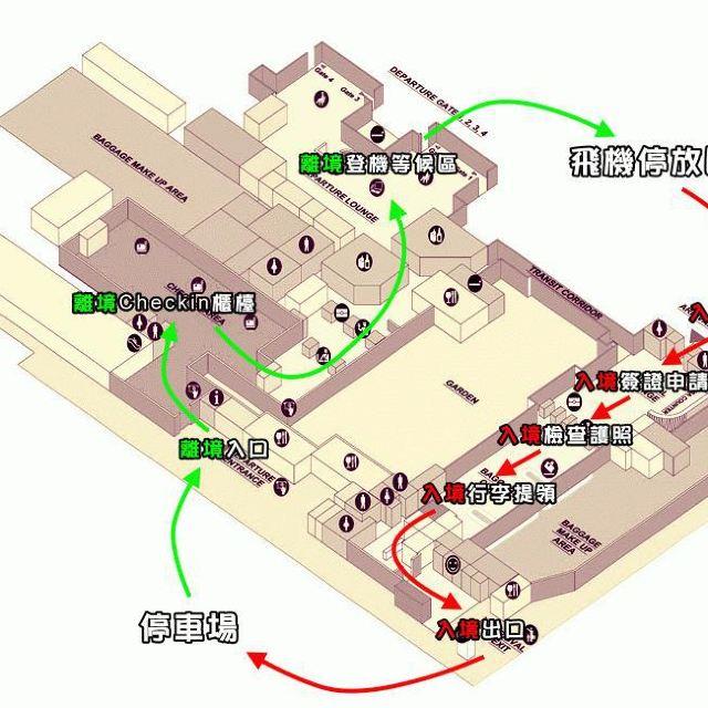暹粒机场平面图