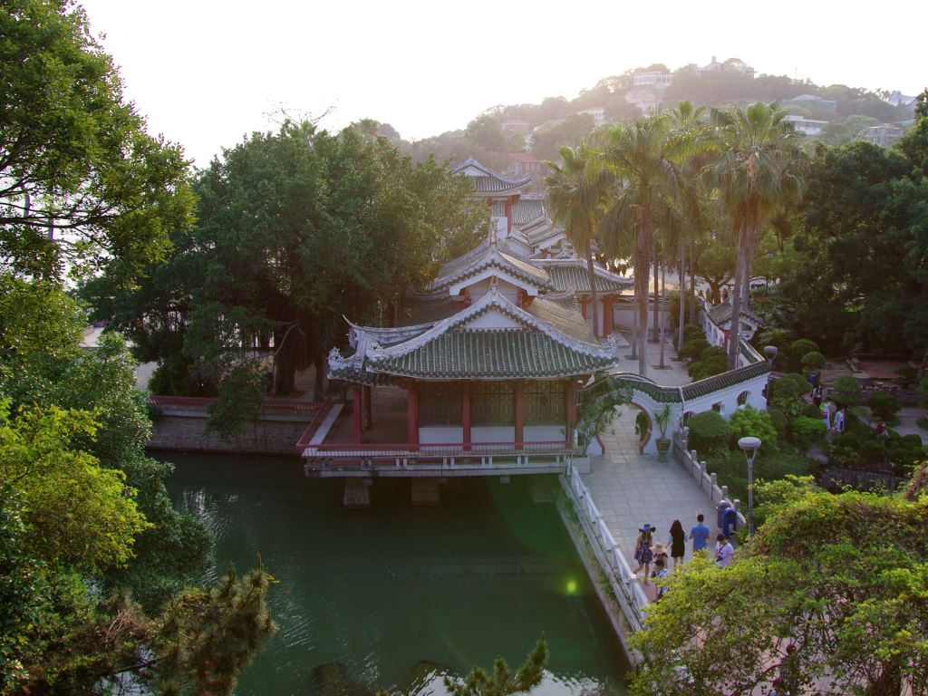 菽庄花园的颇似风格绘制江南符号的a风格雅致.cad粗糙度建筑庭院图片