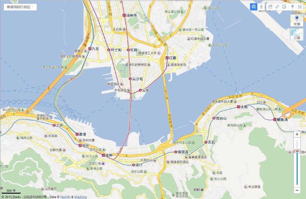 香港九龙城区高清地图