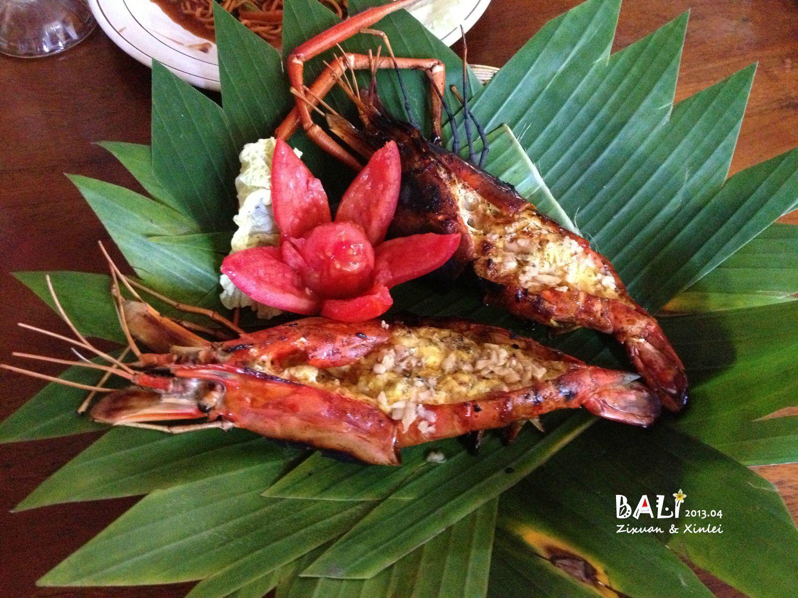 烤龙虾,这是我在巴厘岛吃的最好吃的烤物.
