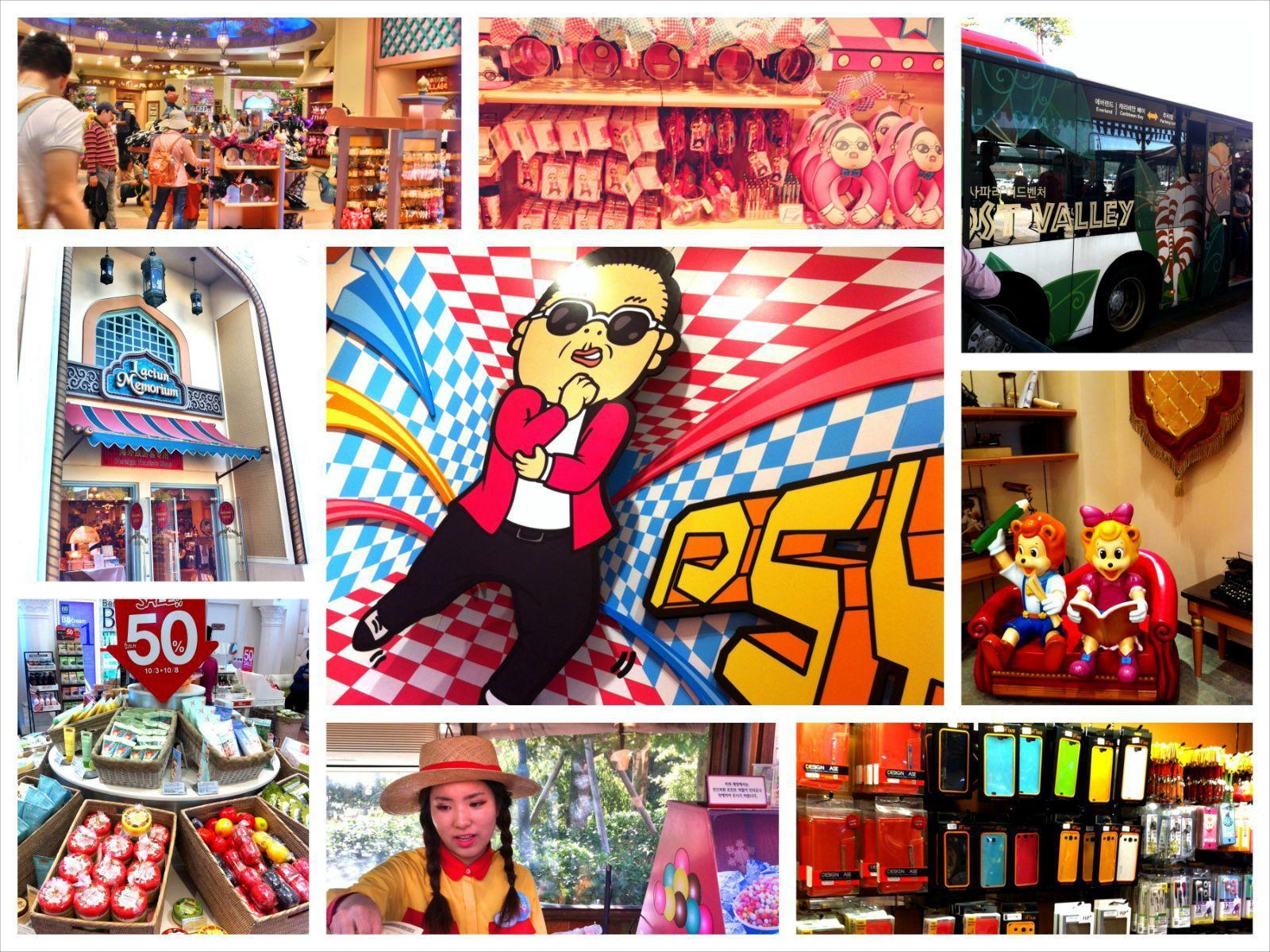 地球村街的各式纪念品商店