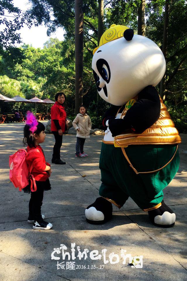 长隆野生动物园     观看完白虎山