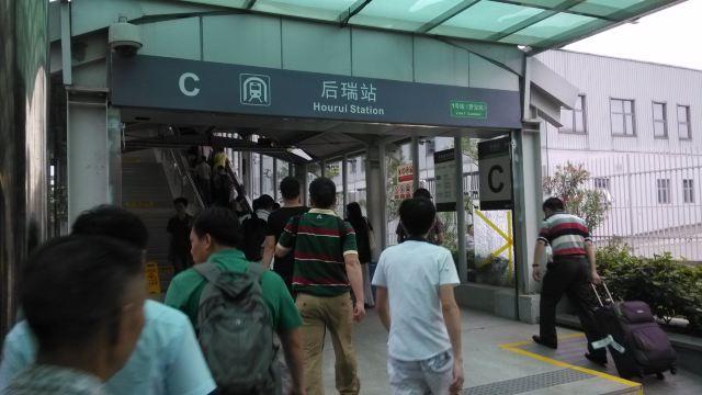 乘m416路送到机场地铁站赴世界之窗