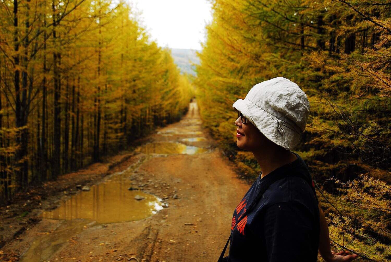 秋天帅哥风景头像