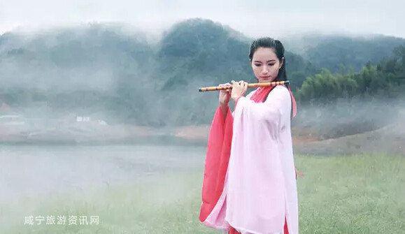 最美咸宁大片,18位古装美女惊现黄袍山!