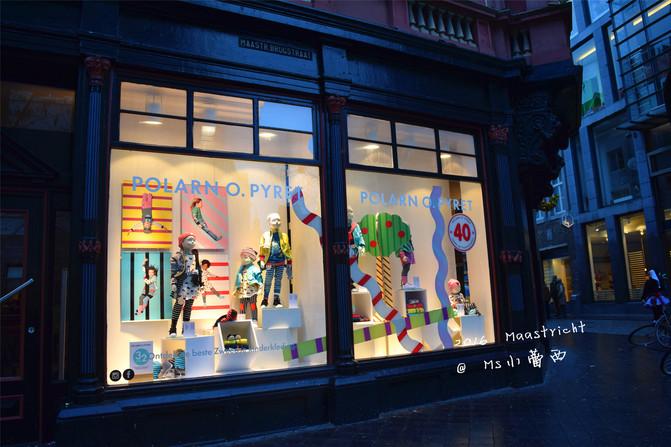 商业街可爱的橱窗