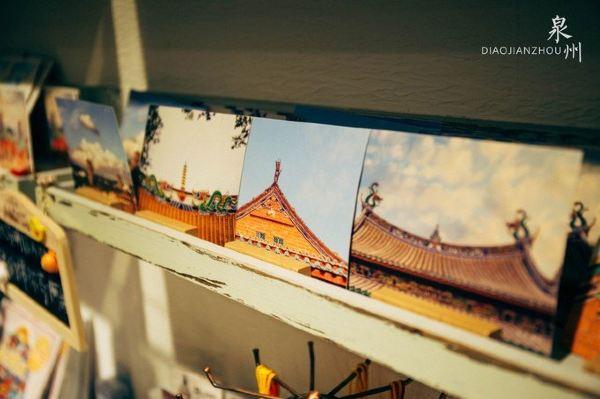 泉州西街 买了份手绘地图和明信片,出来继续往t陶园走.