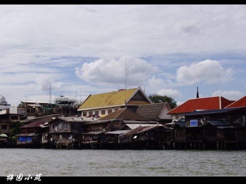 长尾船游湄南河 -- 泰国曼谷