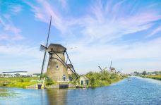 小孩堤防风车村-鹿特丹-doris圈圈