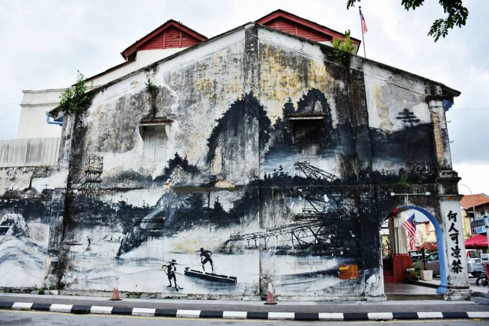 檳城怡保新街場後巷壁畫+二奶巷+凱利古堡一日遊(喬治市專車往返 | 霹靂太平湖紅樹林)