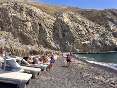 卡马利黑沙滩-圣托里尼-心向远方jing