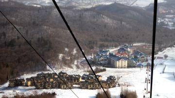 ClubMed亚布力滑雪度假村_快到山顶往下看