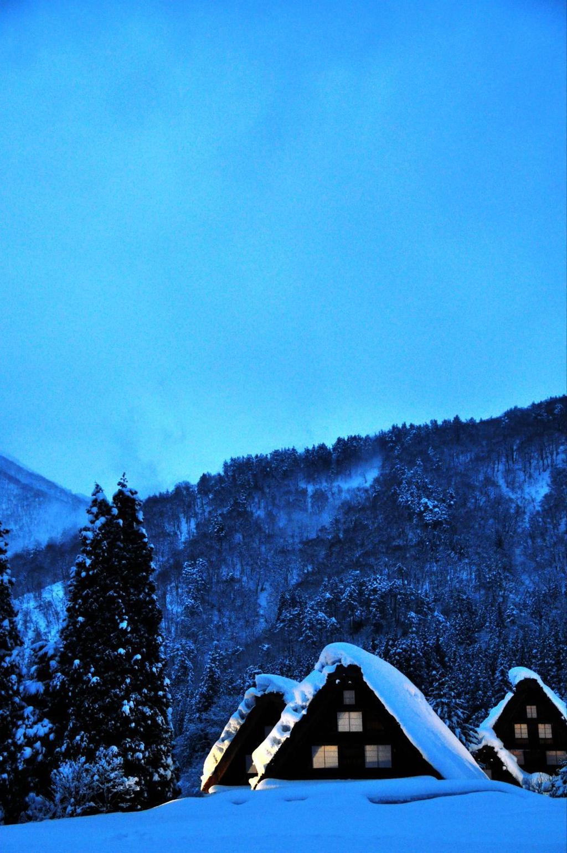 日本雪手機壁紙