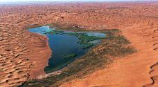 腾格里沙漠月亮湖-阿拉善左旗-二舅